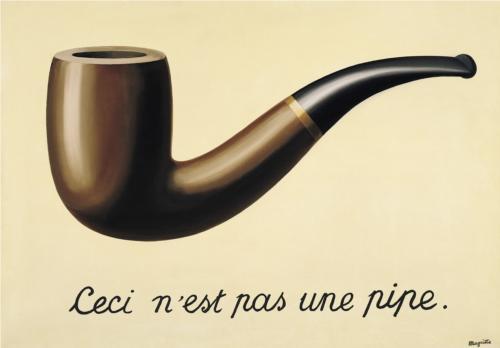 """"""" Isto não é um cachimbo. """" Rene Magritte (1948)"""