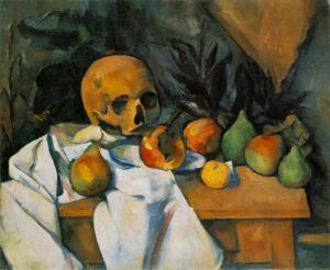 """Paul Cezanne """"Natureza Morta com Crânio"""" 1898"""