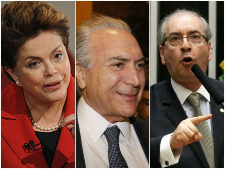 Dilma-Temer-e-Cunha