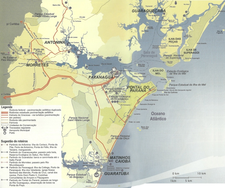 mapa-turistico-litoral - parana