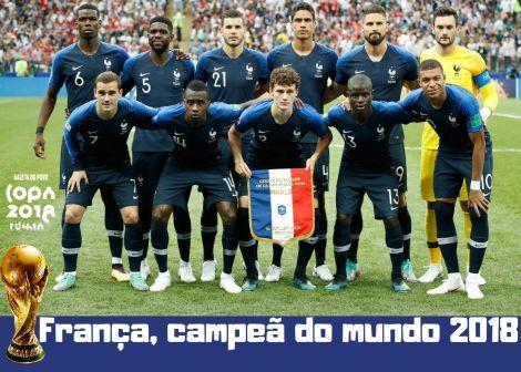 Futebol: Copa do Mundo 2018. A França é Bicampeã domundo